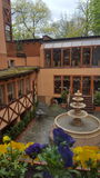 Bohemian hotel fountain Royalty Free Stock Photography