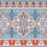 Bohemian Indian Mandala print. Vintage Henna tattoo style Stock Photo