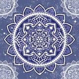 Bohemian Indian Mandala print. Vintage Henna tattoo style. Bohemian Indian Mandala towel print. Vintage Henna tattoo style Indian medallion. Ethnic ornament vector illustration