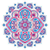Bohemian Indian Mandala towel print. Vintage Henna tattoo style Royalty Free Stock Photography