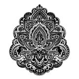 Bohemian Indian Mandala towel print. Vintage Henna tattoo style Royalty Free Stock Photos