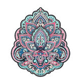 Bohemian Indian Mandala towel print. Vintage Henna tattoo style Stock Photography
