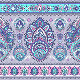 Bohemian Indian Mandala towel print. Vintage Henna tattoo style Royalty Free Stock Images