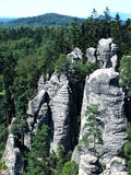 Bohemian Paradise. Prachov Rocks, beautiful sandstone rock formation in Bohemian Paradise, Czech Republic Stock Photos