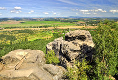 Bohemian Paradise. (Cesky raj near the Turnov) Czech Republic royalty free stock photos