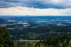 Bohemian paradise panorama landscape Royalty Free Stock Photos