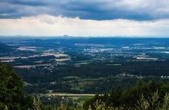 Bohemian paradise panorama landscape Royalty Free Stock Photos