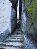 Bohemian Paradise - Rocks Stair - Narrow Path Royalty Free Stock Image