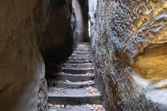 Bohemian Paradise - Rocks Stair - Narrow Path Stock Photography