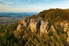 Free Bohemian Paradise. Sandstone Rock Formation Group In Cesky Raj At Sunset. Royalty Free Stock Images - 165968929