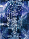 Bohemian style background with hand drawn mandala pattern royalty free illustration