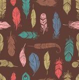 Bohemian style feathers seamless pattern Royalty Free Stock Photography