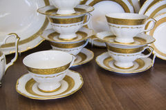 Bohemian tableware Royalty Free Stock Photos