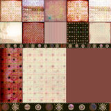 Bohemian Tapestry 2. A rich, textural background montage quilt for scrapbooking and design. Use it to create a wonderful montage of photos stock images
