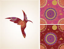 Bohemian, Tribal, Ethnic background with humming Royalty Free Stock Photo