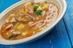 Bohemian Zelnacka. Zelnacka - Bohemian cabbage soup, close up royalty free stock photography