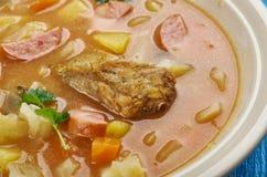 Bohemian Zelnacka. Zelnacka - Bohemian cabbage soup , close up royalty free stock image