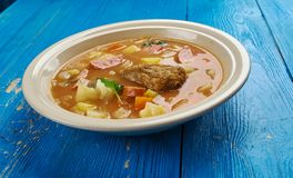 Bohemian Zelnacka. Zelnacka - Bohemian cabbage soup , close up royalty free stock images