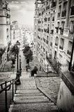 Bohemio abajo en la calle, París Francia Foto de archivo