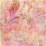 bohemisk blom- zigensk pink för bakgrund Arkivbild