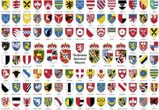 Bohemiska historiska sköldar, tjeckvapensköld, Fotografering för Bildbyråer