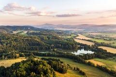 Bohemiskt paradis från över arkivfoton