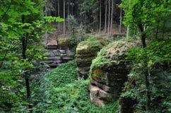 Bohemiskt paradis, Tjeckien Arkivfoton