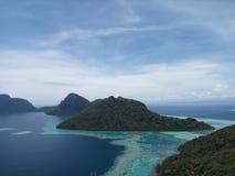 Bohey Dulang szczytu sceneria Obraz Royalty Free