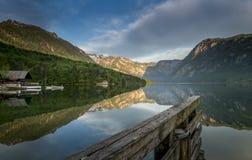 Bohinj jeziora odbicie zdjęcia royalty free