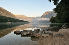Bohinj lake Royalty Free Stock Images