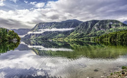 Bohinj Lake Arkivbild