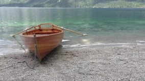Bohinj lake,canoe,slovenie 122055 stock video footage