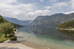 Bohinj Lake landscape and Julian Alps, Slovenia. Stock Image