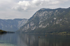 Bohinj Lake landscape and Julian Alps, Slovenia. Royalty Free Stock Photography