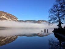 Bohinj lake. One of the most beautiful Slovenia Stock Images