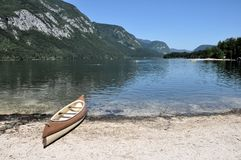 Bohinj lake in Slovenia Royalty Free Stock Photography
