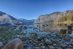Bohinj lake. Of slovenia, europe royalty free stock image