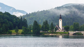 Bohinj Lake in summer Stock Photos