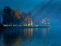 Bohinj lake in Triglav national park Royalty Free Stock Images