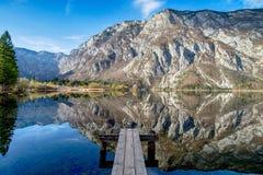 Bohinj lake in Triglav National Park. Slovenia Stock Photography