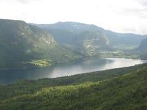 Bohinj lake. The  uniq Bohinj lake from the vogel mountain in slovenia Stock Images