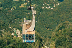 Bohinj lake Vogel cable car Royalty Free Stock Image