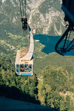Bohinj lake Vogel cable car Royalty Free Stock Images