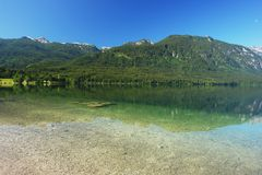 Bohinj See, Slowenien Stockfotos