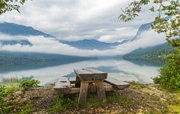 Bohinj See, Slowenien Stockbild