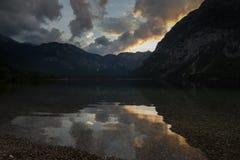 Bohinj sjö, Slovenien Fotografering för Bildbyråer