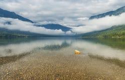 Bohinj sjö, Slovenien Arkivfoton