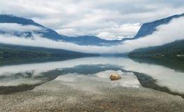 Bohinj sjö, Slovenien Arkivbilder