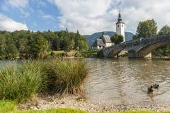 Bohinj, Slovenië Stock Fotografie