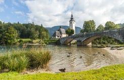 Bohinj, Slovenië Stock Foto's